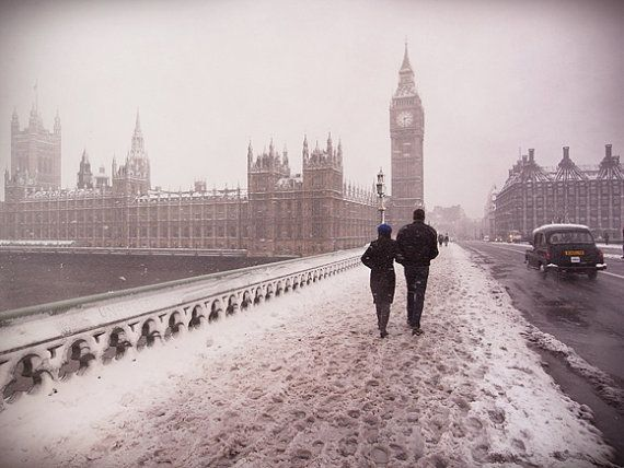 This picture just makes me happy: Photos Inspiration, London Wintertime, Favorite Places, Winter Photography, London Snow, London Call, London Bridges, Photography Inspiration, Street Photography