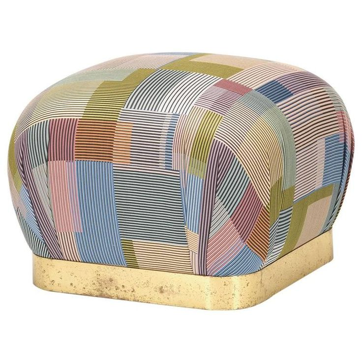 Souffle Ottoman By Karl Springer For Karl Springer, Ltd