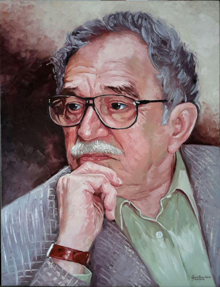 Gabriel García Márquez - Homenaje - Oleo con espátula sobre lienzo - 100 x 80 cm - 2014