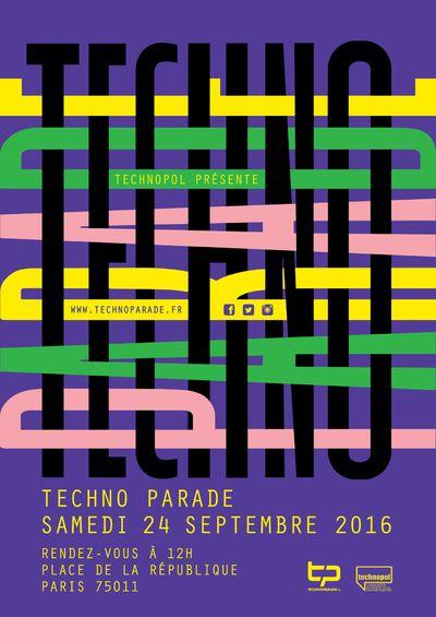 Léa Taillefert Design graphique Appel d'offre - Techno Parade 2016