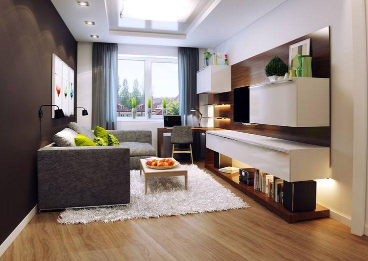 Küçük oturma odaları için dekorasyon 1