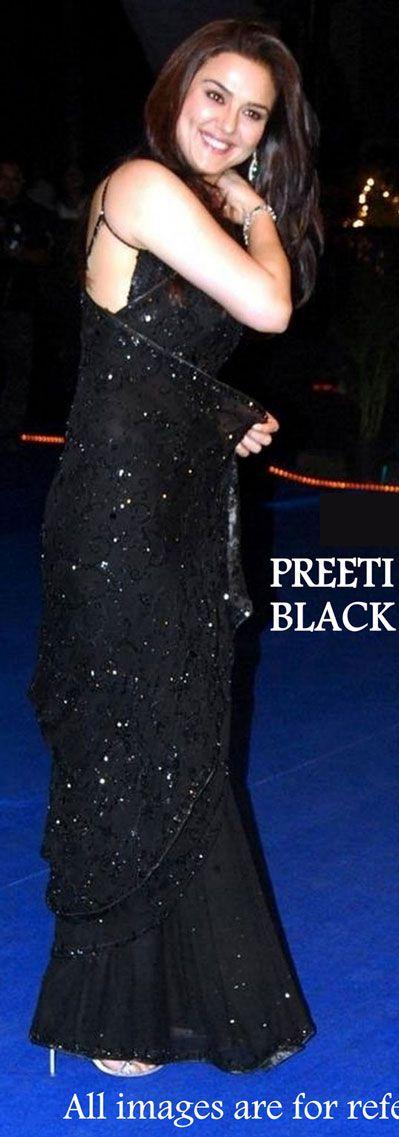 USD 37.85 Preeti Jinta Black Party Wear Saree 34794