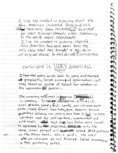 "Kurt Cobain's Letters & Journals ""they haven't an ounce for wisdom or the appreciation of passion."""