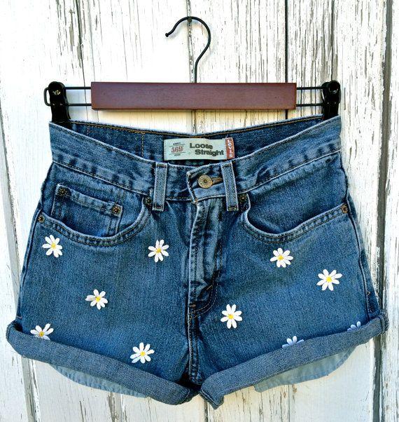 Levis high waisted denim shorts Hippie shorts by BaileyRayDenim