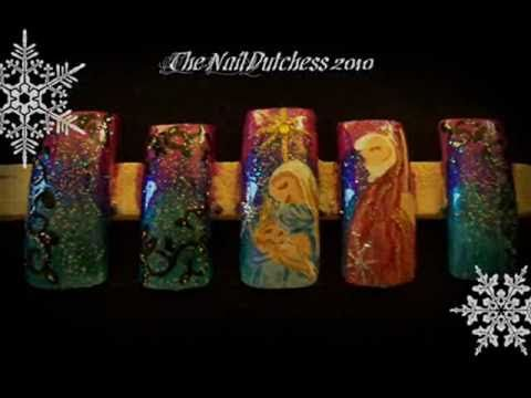 204 best thanksgiving christmas winter nail art video nativity scene nail art tutorial prinsesfo Choice Image