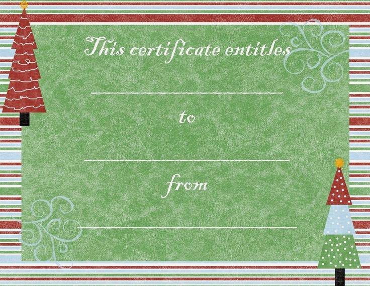 10 best DIY Printables images on Pinterest Birthday cakes, Blank - printable christmas certificates