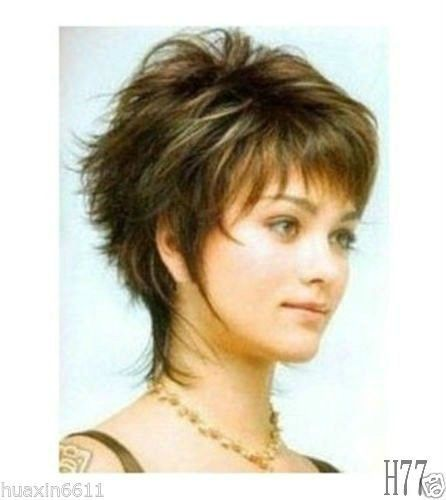 Details about Fancy short mixed color hair lady's full wig + gift
