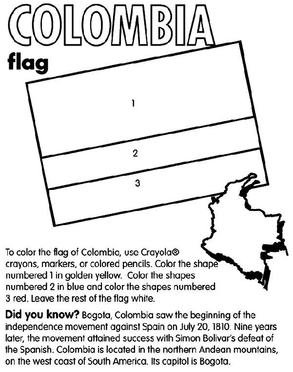 summer coloring pages colombia country coloring colombia coloring page 3026