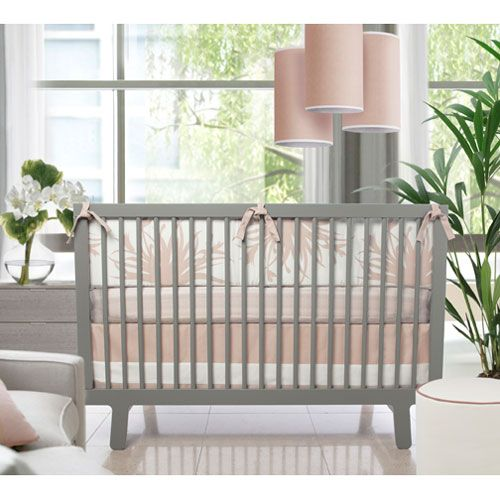 Flora Crib Set In Blush and Nursery Kid Bedding Sets in Bedding : Eclectic Baby Bedding at PoshTots