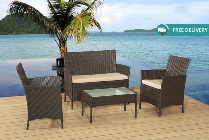 Buy Rattan Garden Sofa Set - 3 Colours! UK deal for just £109.00 £109 instead of from £499.99 (from Alexander Morgan) for a rattan garden sofa set - save 78% + DELIVERY IS INCLUDED BUY NOW for just £109.00