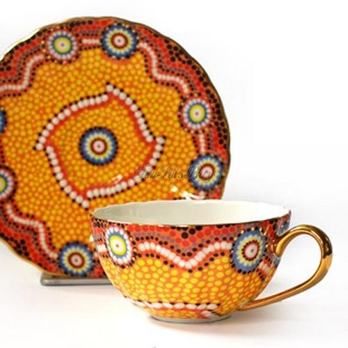 Barcelona Style Bone China Tea Cup And Saucer