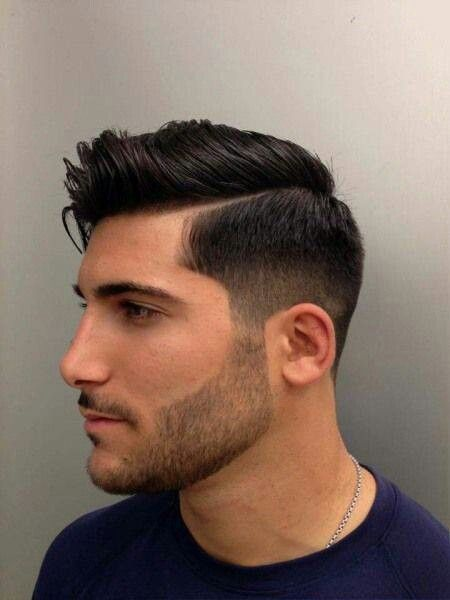 Fade with a hard part: try a version of this for Chase's next haircut?