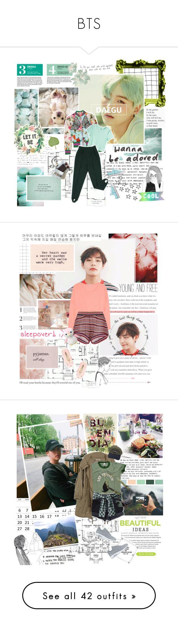 """BTS"" by followmiiin ❤ liked on Polyvore featuring Garance Doré, Gucci, H&M, Converse, Eberjey, Jill Stuart, Dorothy Perkins, kpop, sleep and sleepover"