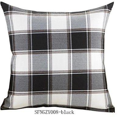 Createforlife® 18 Retro Checks Spandex Decorative Pillow Cover - USD $ 12.99