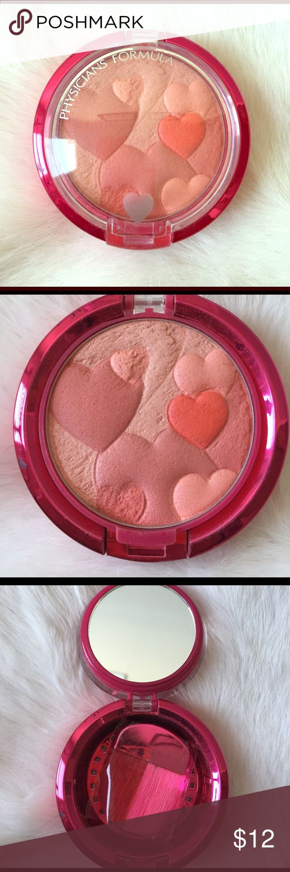 Physicians Formula blush Physician's Formula - Happy Booster Glow & Mood Boosting Blush. Shade is Warm. Never used, includes new brush in plastic packaging. Please look closely at pictures. 💕 Physicians Formula Makeup Blush
