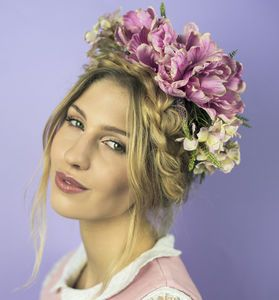 Oversized Summer Posy Crown