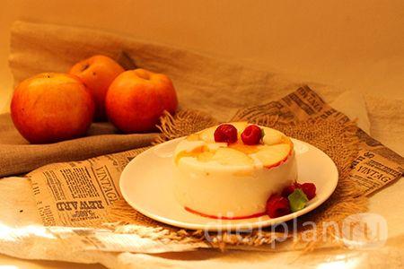 Диетический творожный десерт с фруктами