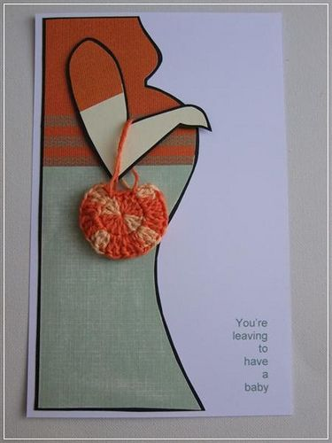 You're leaving to have a baby card topper / Elemento para ...
