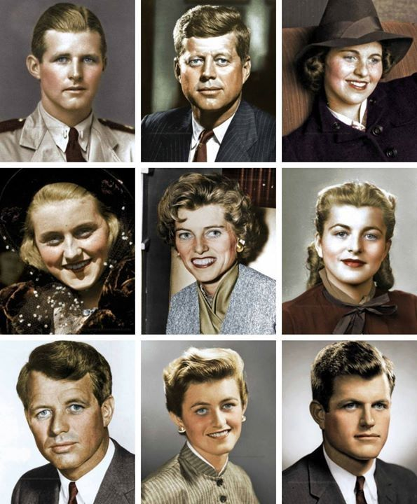 Joseph Patrick Jr., John Fitzgerald, Rose Marie, Kathleen Agnes, Eunice Mary, Patricia Helen, Robert Francis, Jean Ann and Edward Moore Kennedy