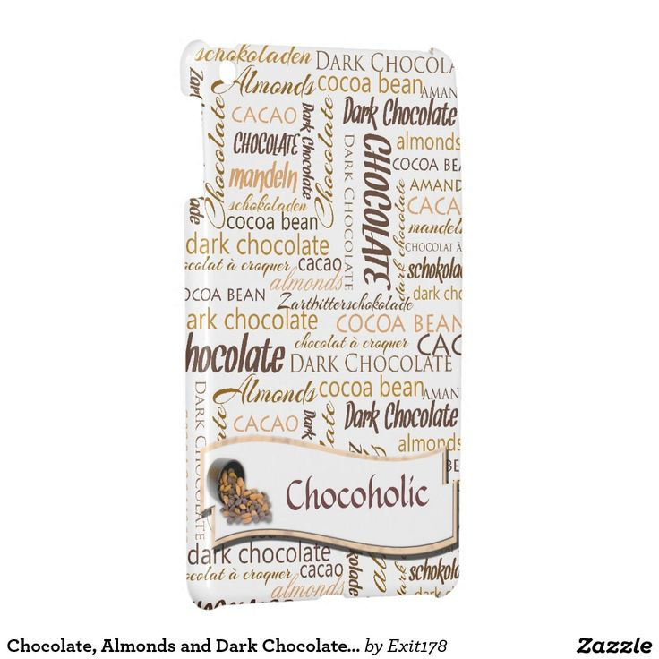 Chocolate, Almonds and Dark Chocolate Text Design iPad Mini Cover