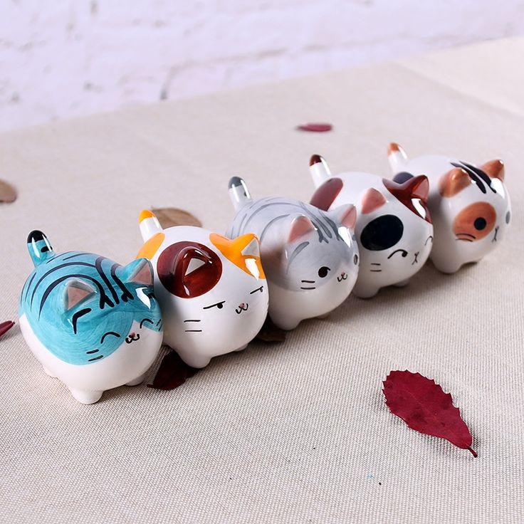 Bonito gordo kawaii maneki neko cerâmica artesanato de decoração para casa decoração do quarto porcelana figurine animal gato afortunado artesanato ornamento em Estátuas & Esculturas de Em casa, Kitchen & Jardim no AliExpress.com   Alibaba Group