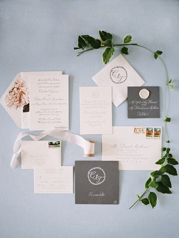 Corcoran Wedding  Event Design + Planning by @Julie Savage at Corcoran | Calligraphy by @laurahoopercalligraphy #wedding #gardeninspired #museumwedding