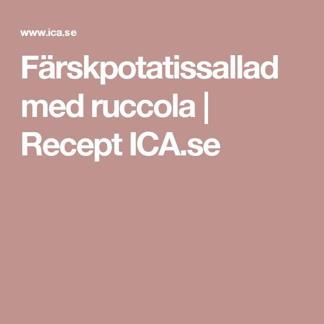 Färskpotatissallad med ruccola | Recept ICA.se
