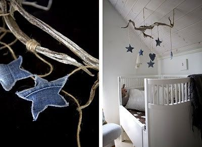 Dreams and Wishes: denim decor in kid's rooms...