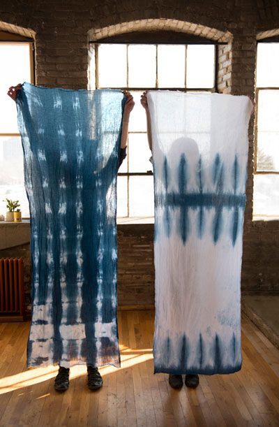 Throwback to Calik Denim Impressed Blue. It's Shibori, an ancient Japanese dye technique