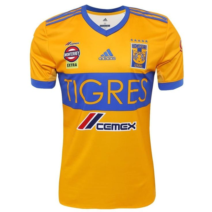 TIGRES UANL 2017/18 Home Men Soccer Jersey Personalized Name and Number