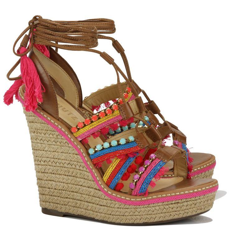 Sandália Anabela Salto Alto Schutz Saddle - Acquarela Shop - A primeira boutique online de sapatos do Brasil