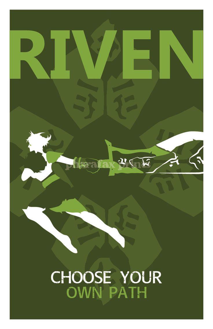 Riven: League of Legends Print. $14.00, via Etsy.