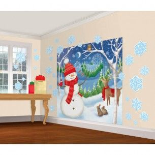 Amscan Very Merry Christmas Party Winter Friends Mega Value Scene Setters  Wall Part 42