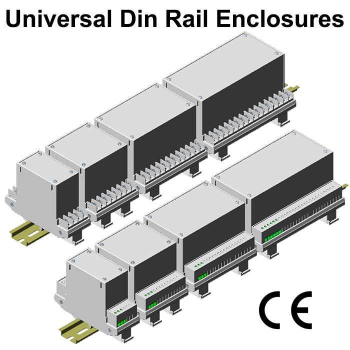 DIN Rail Universal Enclosures : Modular design and universal mounting in all three rails. PCB Guides from all sides. I/O Terminal : fixed as well as euro terminals, Custom configuration by knock out blanks terminal covers. Modular construction of enclosure provides ease in design and servicing of Instrument. Aplication: Housing Electrical, Electronics & Electromechanical Instruments #GaurangEnclosures #DinRailEnclosures #PlasticEnclosures #ElectronicEnclosures #Enclosures Mfg…
