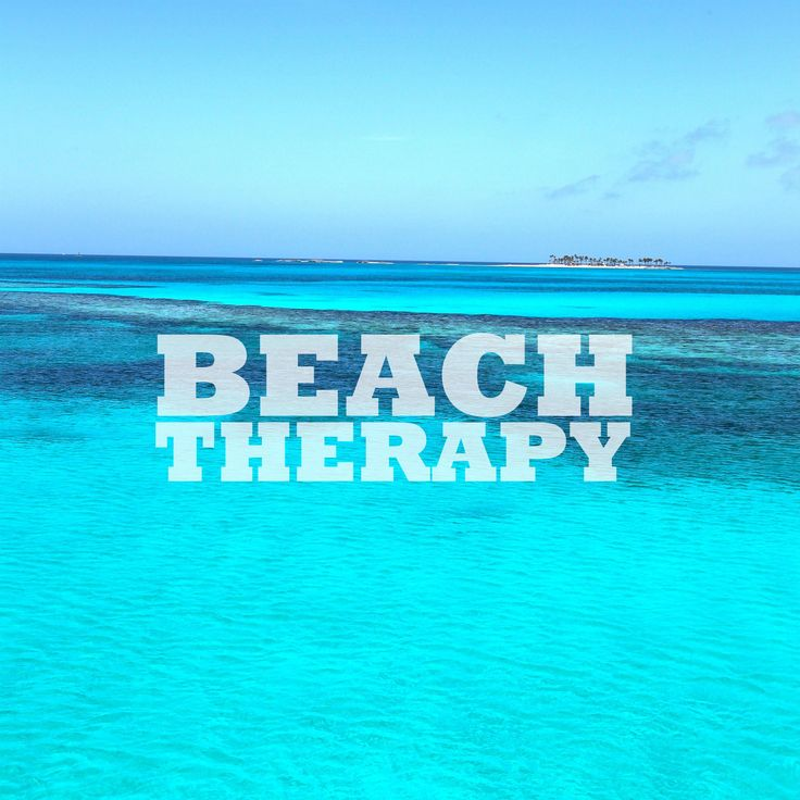 Come to The Bahamas for some beach therapy! #beach #vacation #quotes