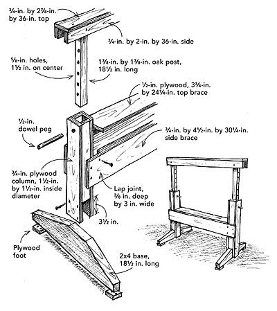 1000 Images About Saw Horses On Pinterest Woodworking