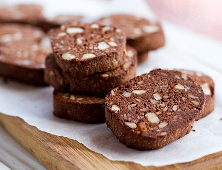 Searching for a paleo treat? Whip up a batch of these Paleo Macadamia Chocolate Cookies by Eat Drink Paleo.