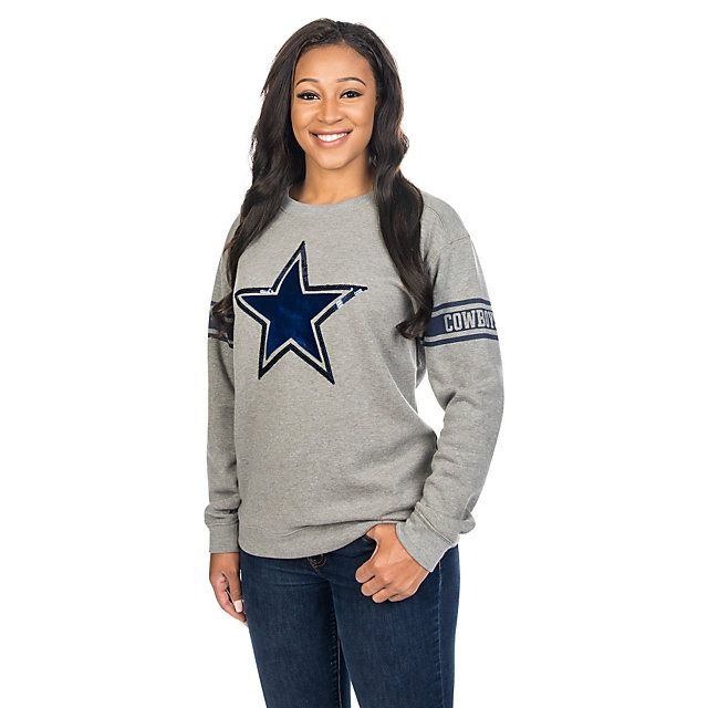 Dallas Cowboys PINK Bling Campus Crew