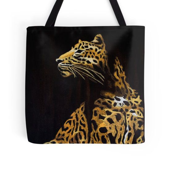 Leopard in the Darkness tote bag by I Love the Quirky