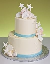 Seashell cake... beach wedding ideas http://prettyweddingidea.com/