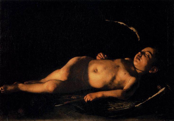 L'Amorino dormiente.  Galleria Pallatina, Palazo Pitti, Florencia.  Oleo sobre tela.