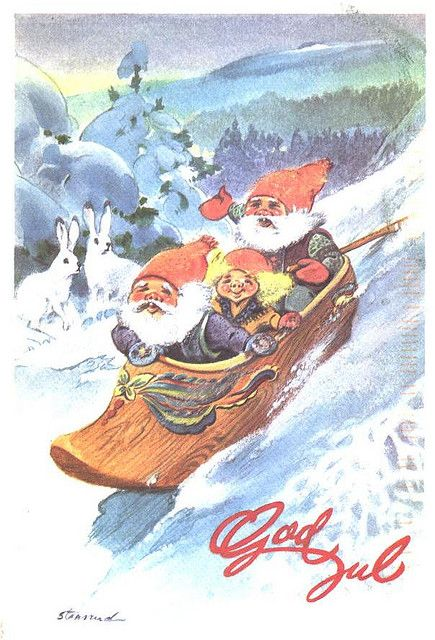 Christmas - Norway, God Jul by 9teen87's Postcards, via Flickr