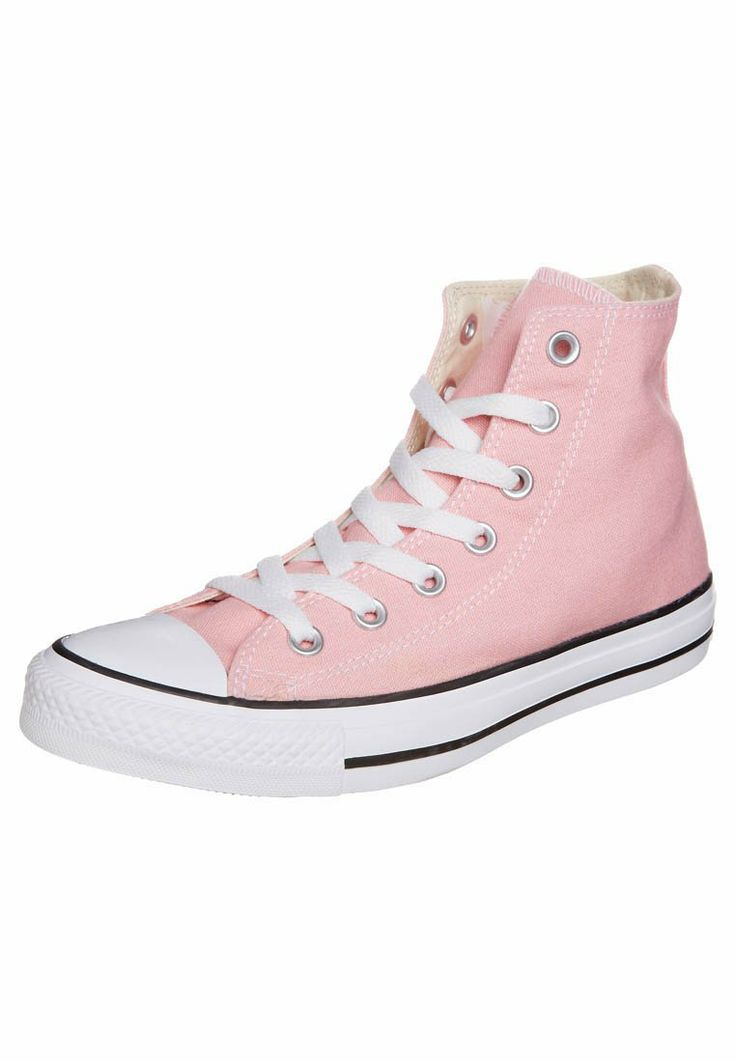 converses montantes rose