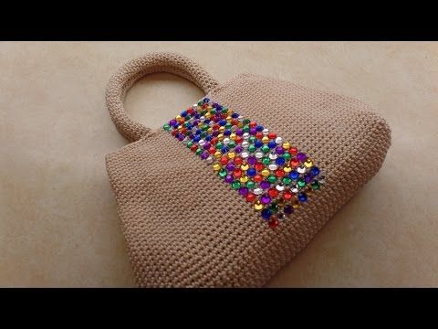How To #Crochet Easy Handbag Purse with Nylon Thread #TUTORIAL #323 - YouTube