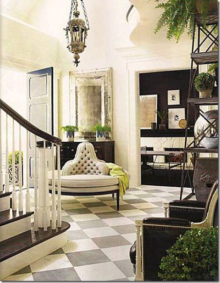 love the grey and white muted floors.  Great for contrasting without overdoing it!