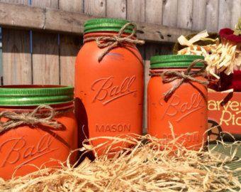 Hand-Painted Baseball Mason Jar Bank Baby Shower Gift Boys