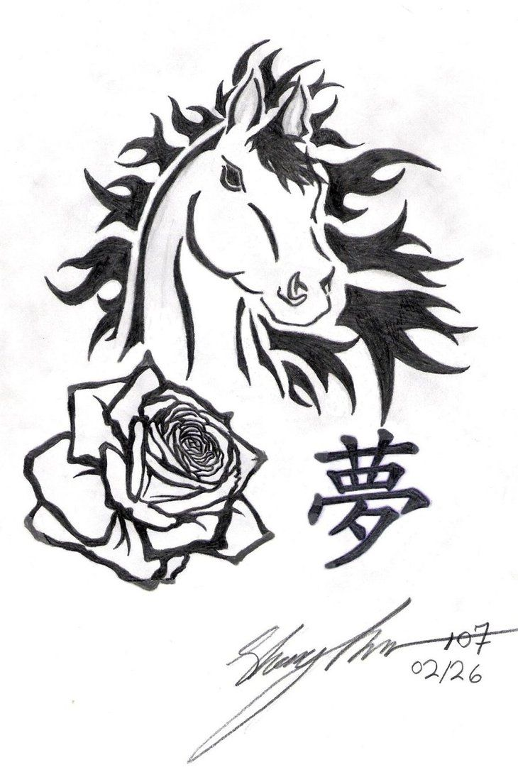Ll find some other good examples of best horse tattoo design ideas - Horse My Rose Dream By Naitachal666 On Deviantart Tribal Tattoo Design