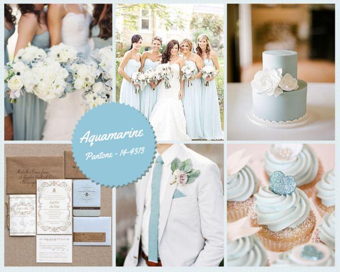 Aquamarine Wedding Colour Trends in Spain 2015