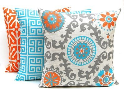 Decorative throw pillow covers Give your home some life with these colourful pillows