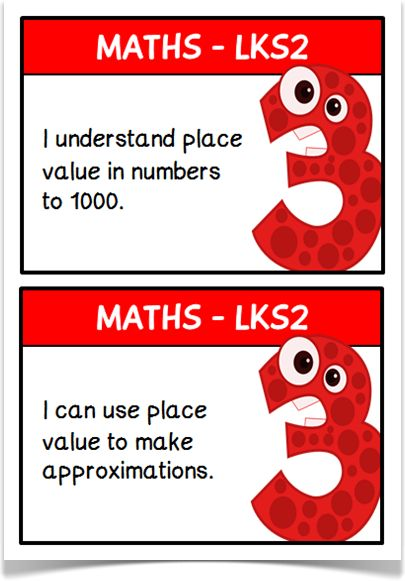"""Maths Targets (LKS2) - Treetop Displays - A free set of 42 maths target """"I can"""" statements on A5 cards for children working in Lower Key Stage 2. Each card presents a number character. Includes spare for teachers' own use. Designed by teachers for Early Years (EYFS), Key Stage 1 (KS1) and Key Stage 2 (KS2)."""